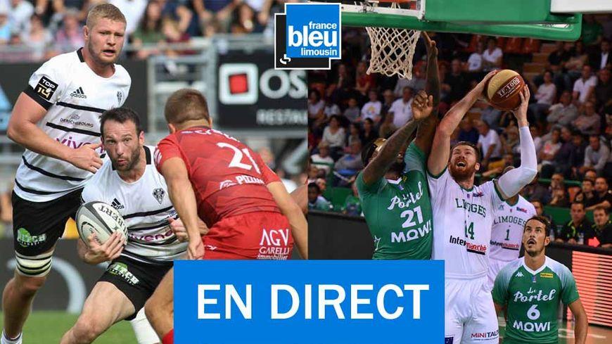 Les matchs du CA Brive et du Limoges CSP sont à suivre ce samedi sur France Bleu Limousin