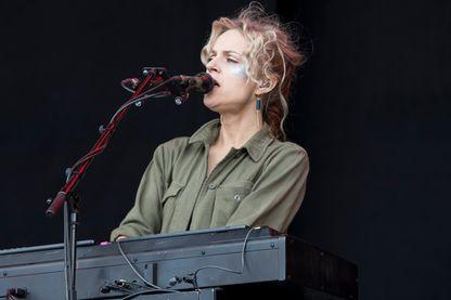 La musicienne, compositrice et interprète, Agnes Obel en concert au Northside Festival le 11 juin 2017 à Århus, Danemark.