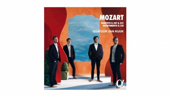 Wolfgang Amadeus Mozart : Quatuors K387 & K421, Divertimento K138 - Quatuor Van Kuijk