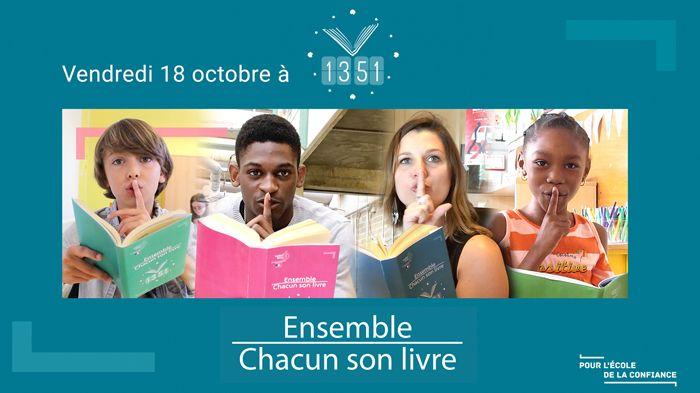 Opération Ensemble, chacun son livre, vendredi 18 octobre dans l'Académie de Rennes.