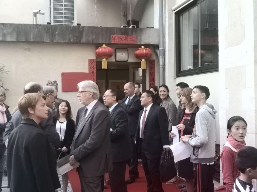 L'entrée des locaux de l'institut Confucius de Pau.