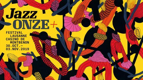 Jazz Onze + | Festival Lausanne, visuel de l'édition 2019