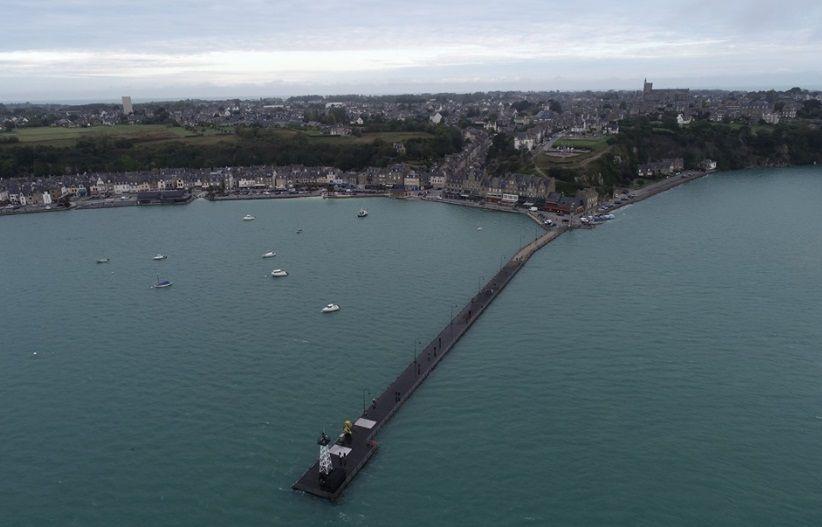 Cancale sous les grandes marées le 30 septembre 2019 (image par drone)