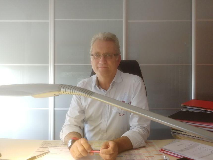 Claude Cucherousset, le gérant de la société Trans Europ Express à Gevrey Chambertin