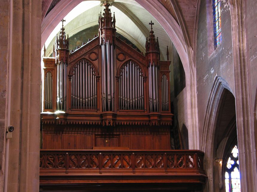 L'orgue restauré de l'Eglise Saint Didier.