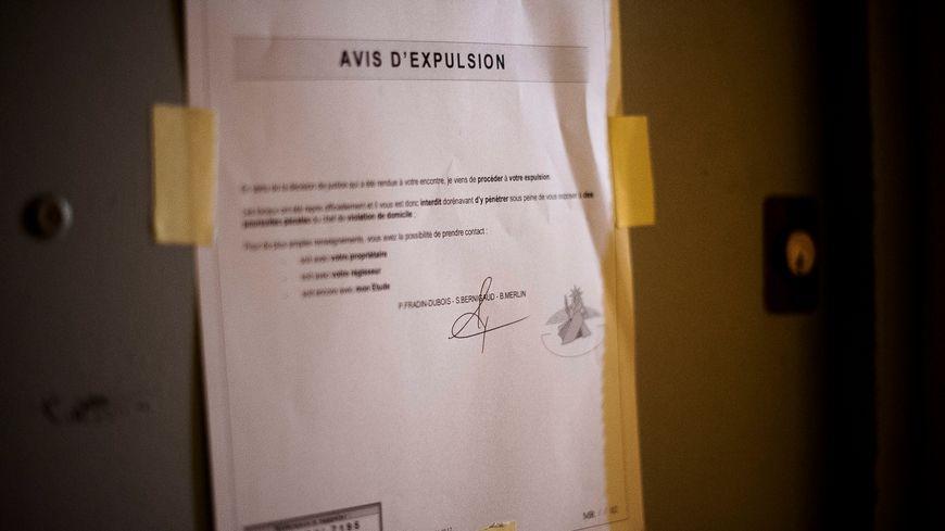 Un avis d'expulsion (photo d'illustration).