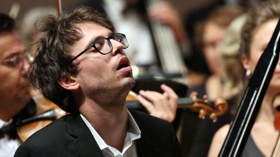 Le pianiste Lucas Debargue lors d'un concert à Moscou en 2016