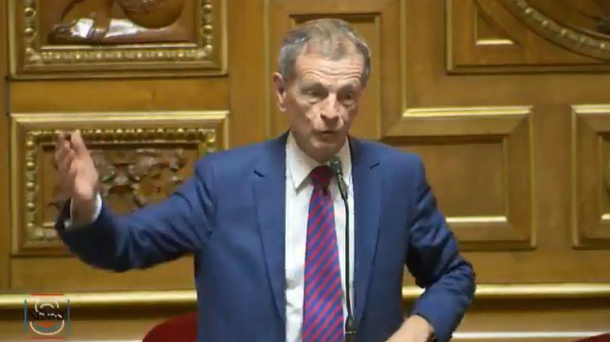 Jean-Louis Masson au Sénat, le mardi 29 octobre 2019 (capture d'écran)