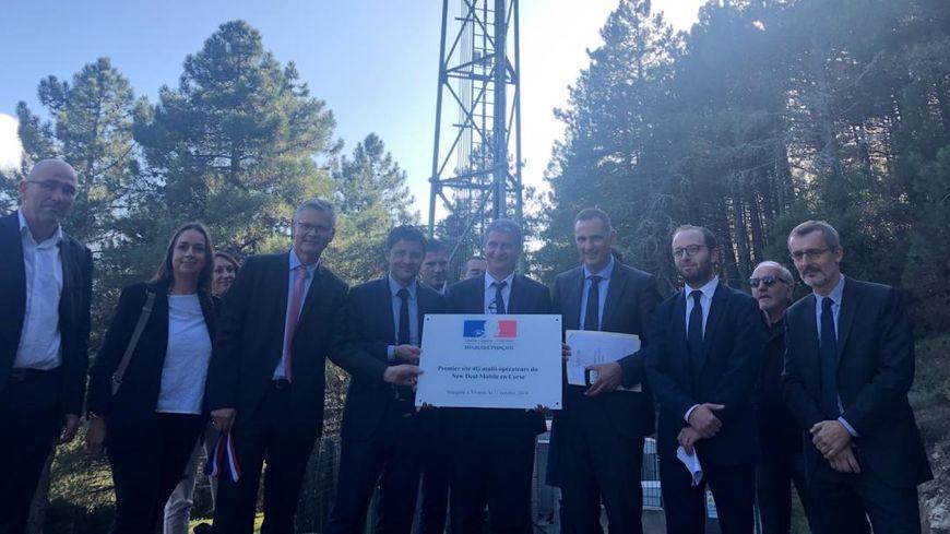 Inauguration à Vivario du premier site 4G multi-opérateurs d'accès à l'internet mobile de Corse