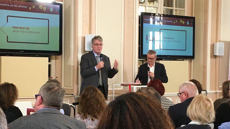 Le haut-commissaire à la réforme des retraites, Jean-Paul Delevoye a répondu aux inquiétudes des Mosellans