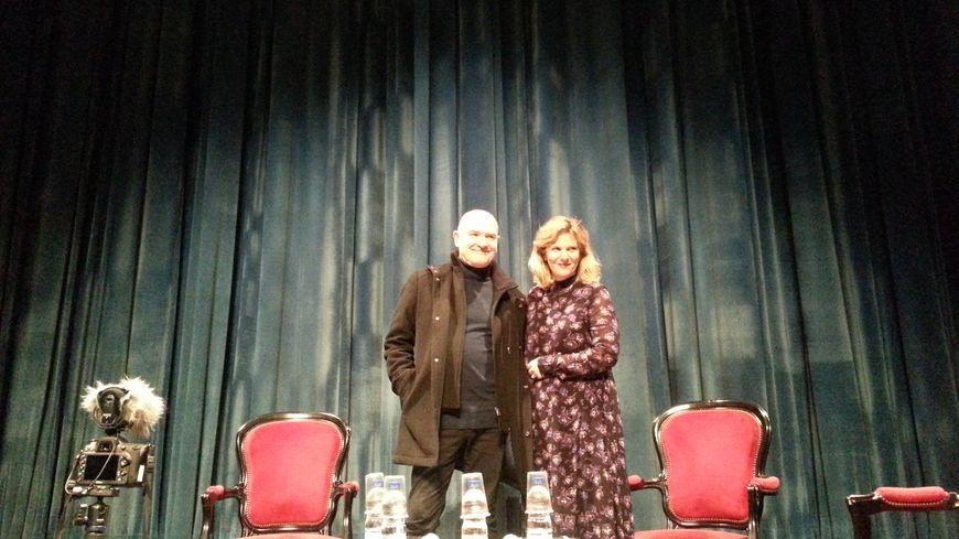 Juliette Deschamps et Eric Vigner sur la scène du théâtre Saint Louis
