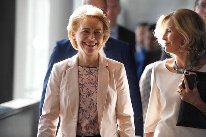 La nouvelle présidente de la commission Ursula von der Leyen lors de son audition par le Parlement européen