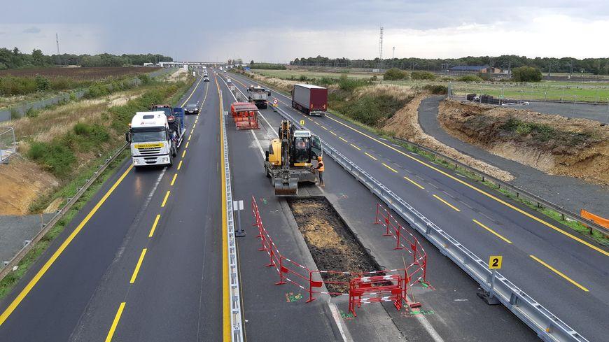 Les travaux d'élargissement ont déjà débuté sur l'A10 au niveau de Sorigny