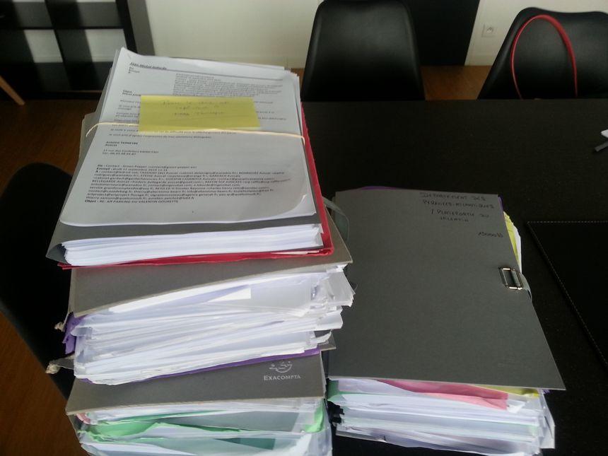 Une partie des documents de l'avocat du conseil départemental, maître Gallardo, à propos du contentieux du Valentin