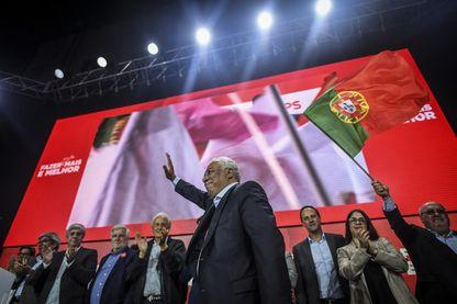 Le Premier ministre portugais, leader et candidat du Parti socialiste Antonio Costa, lors d'un rassemblement de campagne, le 24septembre2019