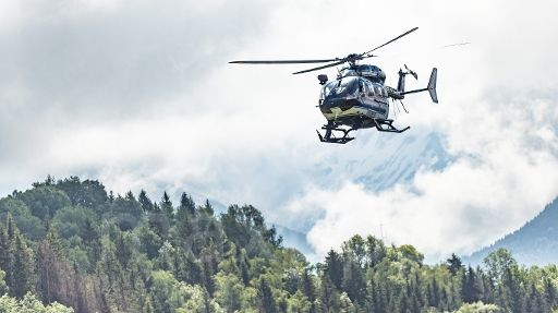 Hélicoptère du Peloton de gendarmerie de haute-montagne de Chamonix