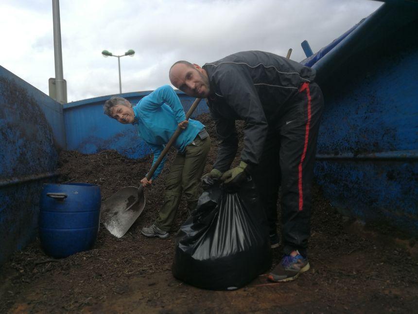 A la déchetterie de Quetigny les usagers pouvaient repartir avec un sac de compost