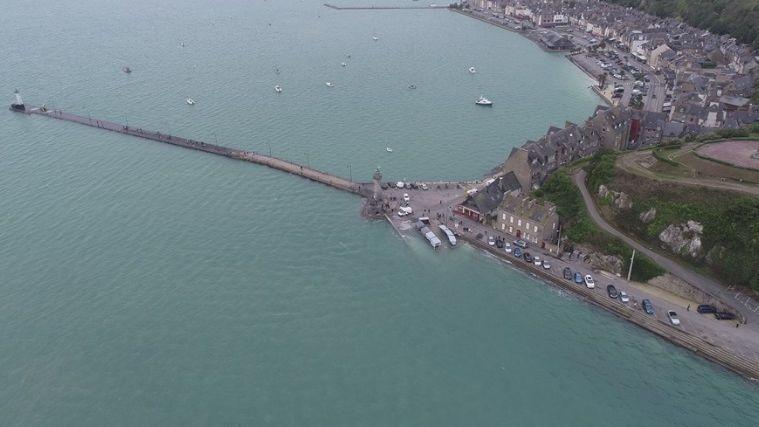 La photo du port de Cancale pendant la grande marée du 30 septembre 2019
