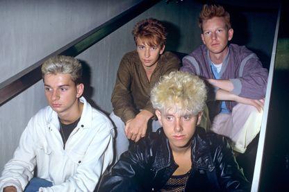 Depeche Mode :Dave Gahan, Alan Wilder, Andrew Fletcher et Martin Gore, le 1er avril 1983 à München, Munich.