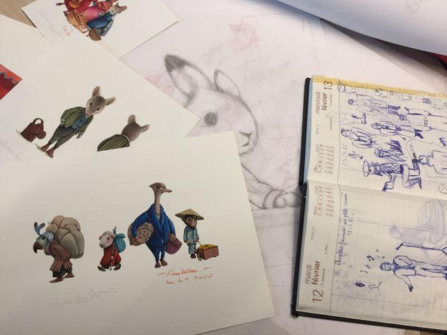 Dans le carton à dessins de Rébecca Dautremer