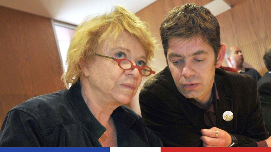 Mickael Marie (à droite) aux côtés d'Eva Joly, ex-candidate écologiste à la Présidentielle en 2012