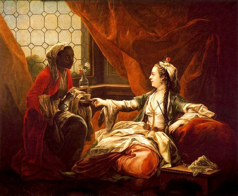 Madame de Pompadour vêtue en Sultane