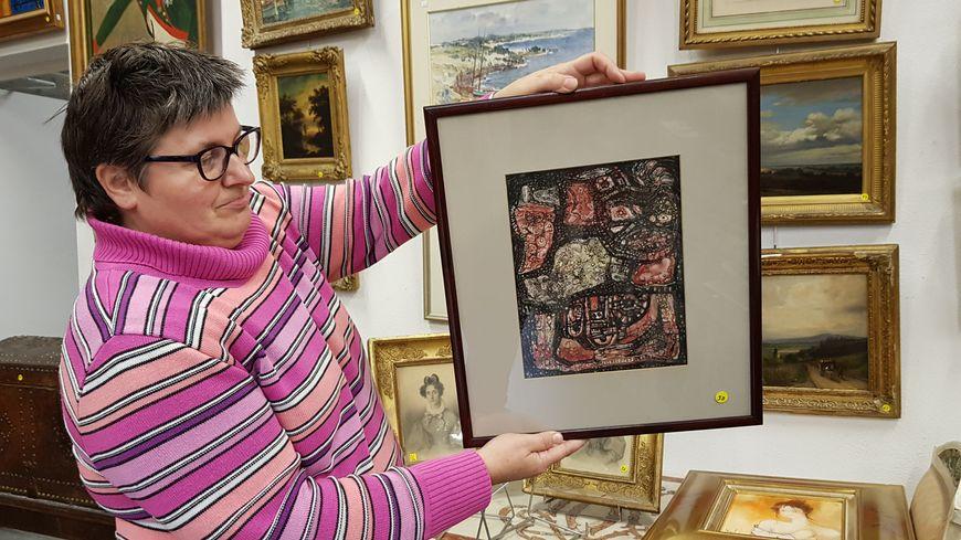 L'aquarelle gouachée de Robert Tatin a été réalisée entre 1960 et 1962.