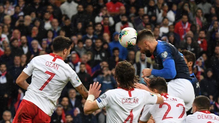 Entré en jeu, Olivier Giroud a ouvert le score pour les Bleus