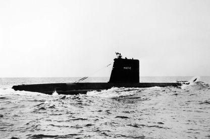 La Minerve en mer en 1964, quatre ans avant sa disparition.