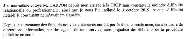 extrait du rapport de Françoise Bilancini, directrice du renseignement de la PP