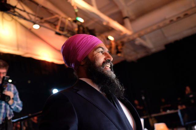 Jagmeet Singh, le candidat du Nouveau parti démocratique à Montréal (Québec). 16 octobre 2019.