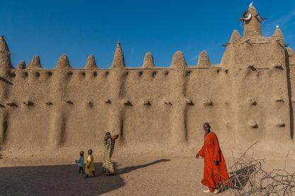 La mosquée du village de Senosa au Mali en 2010