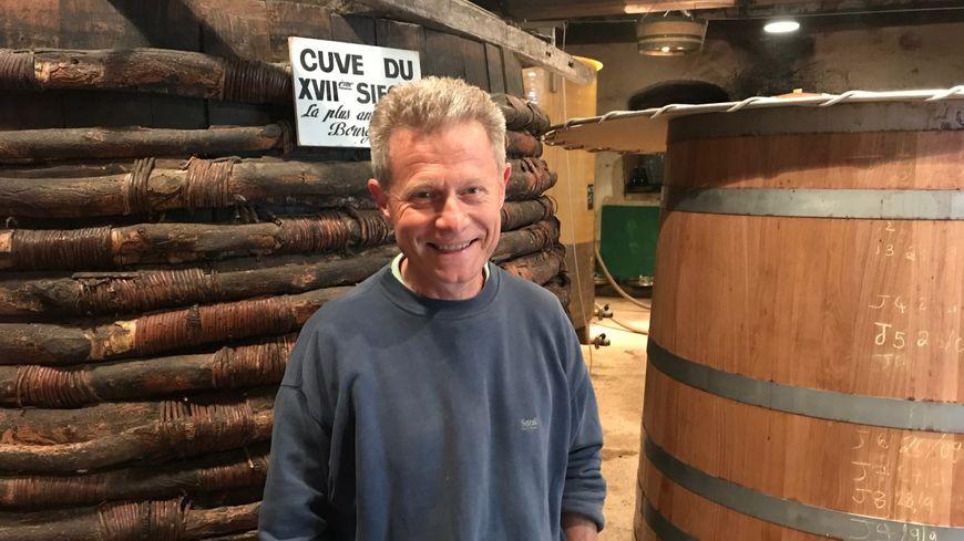 Aubert Lefas, viticulteur à Pommard.
