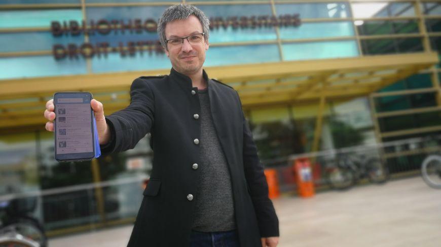 Alexandre Fournier, vice-président de l'UB, délégué au campus numérique