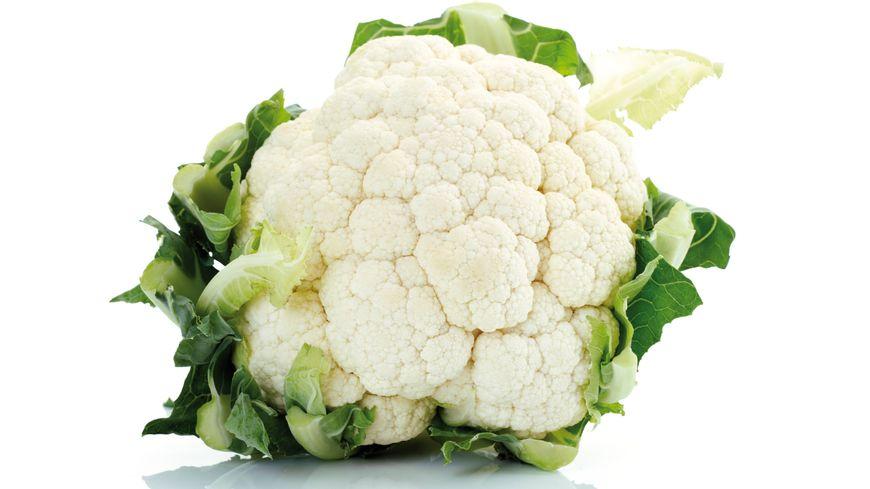 Le chou-fleur bien blanc est un signe de fraîcheur