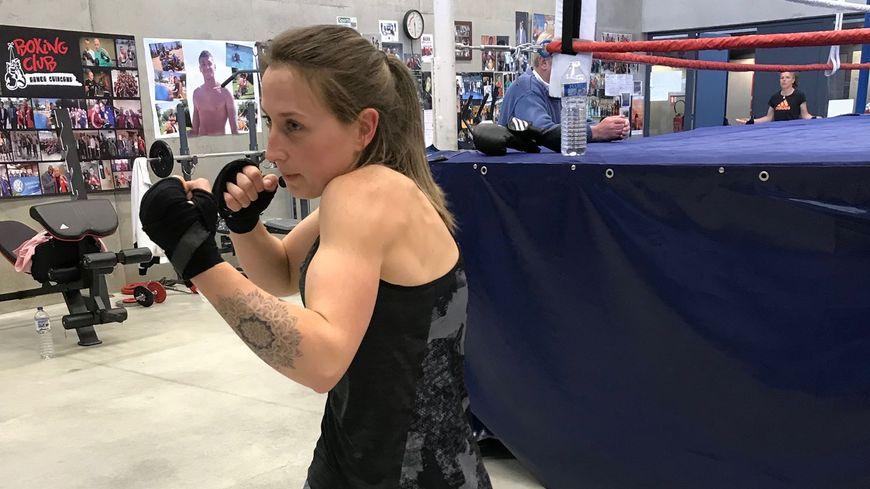 La boxeuse guingampaise Sandra Morcet