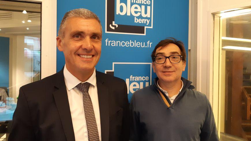 Michel Lheritier, conseiller en ressources humaines à la Chambre d'agriculture de l'Indre et Christophe Martin, secrétaire général de la Chambre de Commerce et d'Industrie de l'Indre.