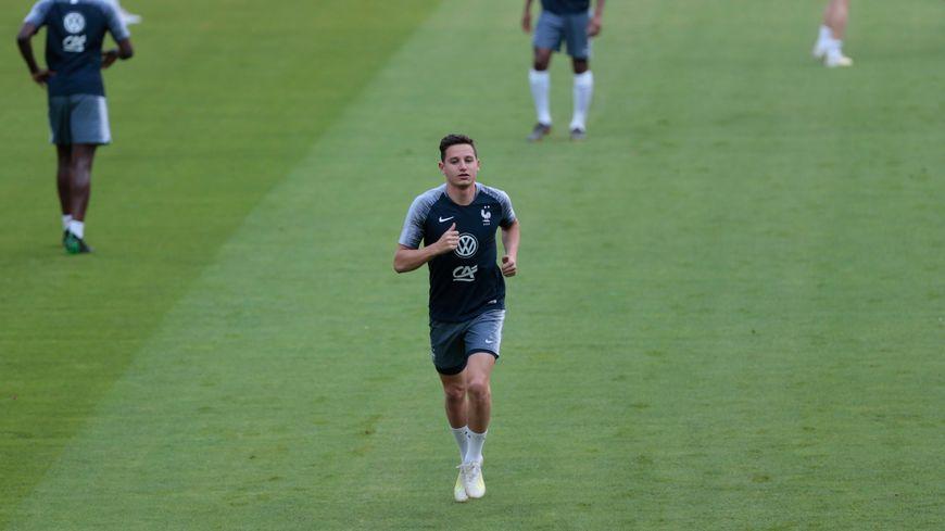 Florian Thauvin à l'entrainement avant Turquie - France en juin 2019