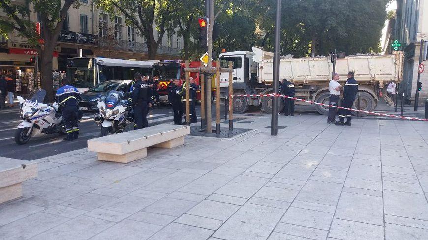 L'accident a eu lieu boulevard Victor Hugo à Nîmes