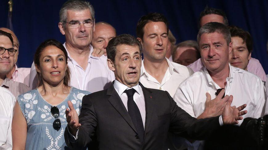 Nicolas Sarkozy et Philippe Briand à la fête de la violette en juillet 2015