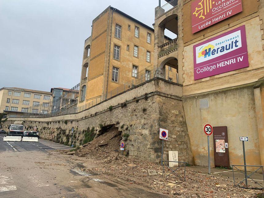 Le mur de soutènement du lycée Henri IV a cédé