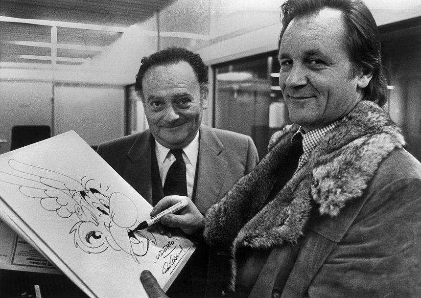 Goscinny et Uderzo, les heureux créateurs d'Astérix