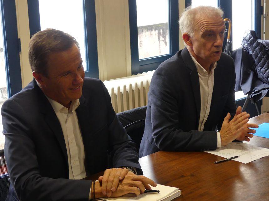 Nicolas Dupont-Aignan et Pascal Lesellier