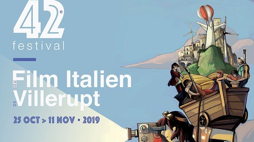 Affiche du 42e festival du film italien de Villerupt