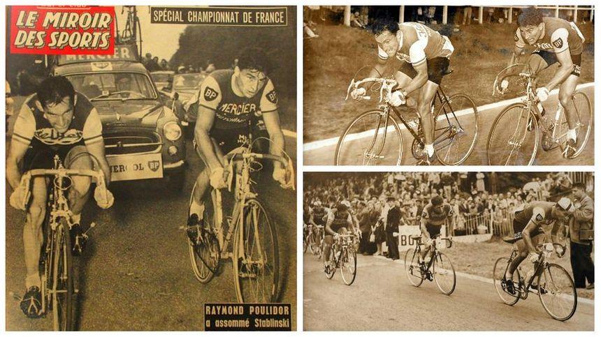 Raymond Poulidor devient champion de France en 1961 à Rouen