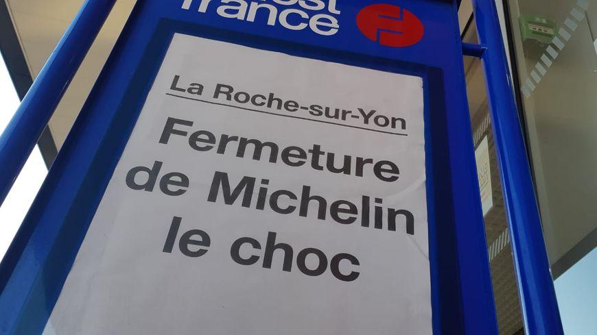"""La manchette du """"Ouest France"""", vendredi 11 octobre à La Roche-sur-Yon."""