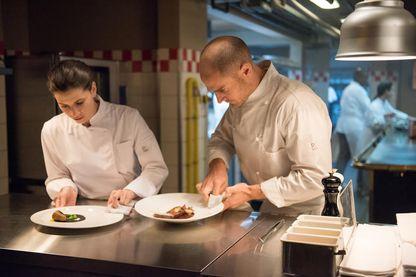 """Joyce Bibring, Nicolas Gob dans la série """"Chefs"""""""