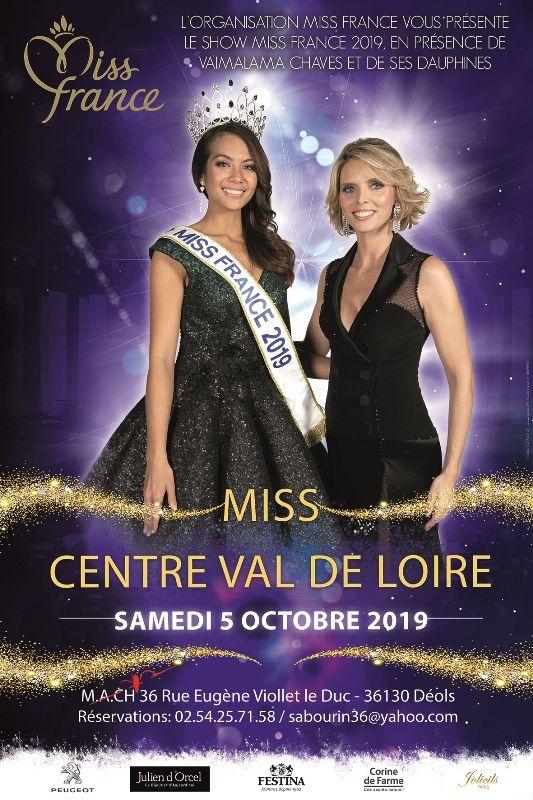 L'affiche 2019 de l'élection Miss Centre Val-de-Loire