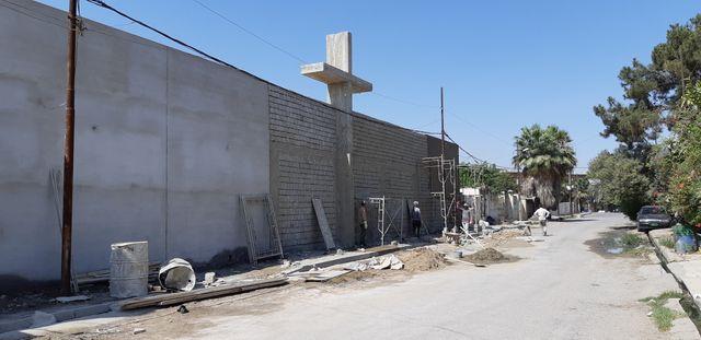 A Mossoul, l'église en reconstruction