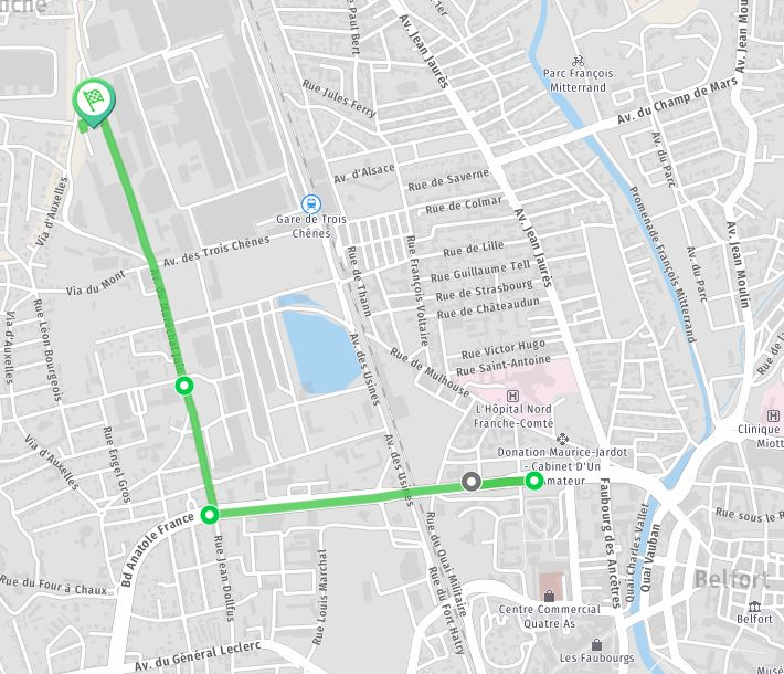 Le parcours de la manifestation du 19 octobre.